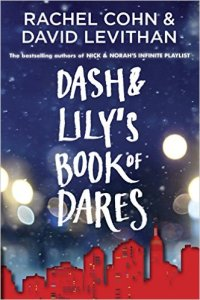 Dash and Lily's Book of Dares by Rachel Cohn & David Levithan Find it here. 16-year-old Lily has left a red notebook full of challenges on her favorite bookstore shelf, waiting for just the right guy to come along and accept its dares. Dash, in a bad mood during the holidays, happens to be the first guy to pick up the notebook and rise to its challenges.