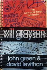 Will Grayson, Will Grayson by John Green & David Levithan Find it here: Book; Audiobook; E-book; When two teens, one gay and one straight, meet accidentally and discover that they share the same name, their lives become intertwined as one begins dating the other's best friend, who produces a play revealing his relationship with them both.