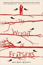 The Weight of Feathers by Anna-Marie McLemore Find it here: Book The touch that was supposed to kill her could do something far worse. Lace Paloma knows she must heed her family's warning that the Corbeaus, a longtime rival family of traveling performers, use black magic to accomplish their feats up in the trees. But a Corbeau boy named Cluck changes everything when he saves Lace's life. With Cluck's family ready to turn against him, the teens traverse a narrow path as they cling to each other.