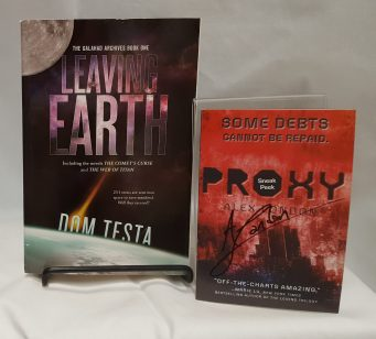 Loot Crate Keyword: LootContains: *3 month subscription to Loot Crate (www.lootcrate.com) (not pictured) *Leaving Earth by Dom Testa, book *Proxy by Alex London sneak peak, signed
