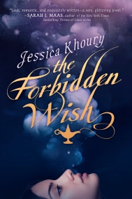 The Forbidden Wish by Jessica Khoury A jinni named Zahra must use shape-shifting magic to survive when Aladdin frees her from her lamp for the first time in centuries. The offer of a lifetime leaves Zahra torn when the King of the Jinn gives Zahra, who is falling for Aladdin, a way to rid herself of the lamp that has long been her prison. Zahra must choose between securing her freedom and following her heart. Find it here