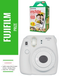 Contents • Fujifilm Instax Mini 9 Instant Camera - Smokey White • Instax Film - 20 Images